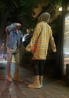 Many people have been wearing a lot of flannels, I think its cause they go good in Fall, and keep you warm but are then.