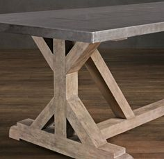 The Chronicles of Home: {DIY} Rustic X Base Console Table