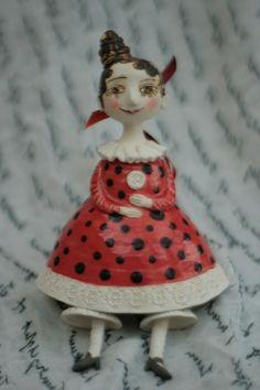 Paper Clay, Paper Mache, Ring My Bell, Ceramic Sculptures, Ceramic Art, Art Dolls, Folk Art, Joker, Objects