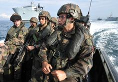 3 Cdo Brigade Royal Marines and their French counterparts as they conduct an amphibious demonstration. The British and French Marines displayed their skills for VIPs and Media looking on from HMS Bulwark. The training took place off the coast of Toulon, France as part of Exercise Corsican Lion.  Corsican Lion provides the first major naval exercise that examines and tests the Maritime element of the Combined Joint Expeditionary Force by demonstrating its ability to project power from the…