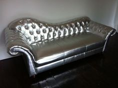 Fantastic Silver Leather Sofa