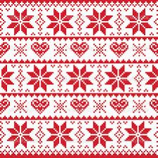 scandinavian christmas fabric - Google Search