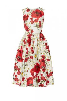 Ascot Dresses: Dolce & Gabbana print silk dress