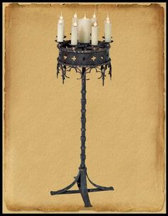 Gothic Beds Wrought Iron | Hand Crafted Wrought Iron Gothic Floor Lamp