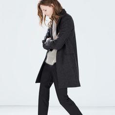 ZARA -Wool coat -THE SHAPE OF THE SEASON