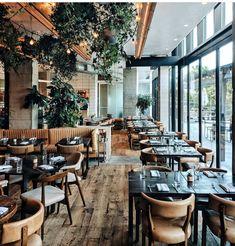 Magical cafe in Hotel Restaurant Exterior Design, Cafe Exterior, Cafe Interior Design, Cafe Design, Brewery Interior, Architecture Restaurant, Craftsman Exterior, Cafe Restaurant, Restaurant Tables