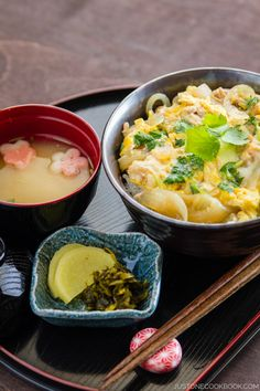 Oyakodon (Chicken & Egg Bowl)   Easy Japanese Recipes at JustOneCookbook.com