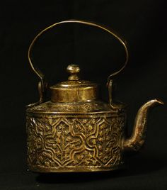 Antique Persian Copper Water Kettle