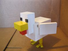 http://lego.cuusoo.com/ideas/view/21329  Minecraft Chicken TUTORIAL!  I will repin this until it gets 10,000 supporters!
