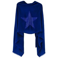 Cashmere Pashmina STAR (ink blue) (€230) ❤ liked on Polyvore featuring accessories, scarves, blue shawl, shawl scarves, cashmere shawl, star scarves and cashmere scarves