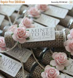 ON SALE Mint wedding Favors  Set of 50 mint by BabyEssentialsByMel