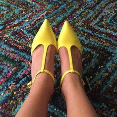 Zara bright yellow shoes  NWT Zara patent leather shoes Zara Shoes Heels