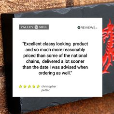 Happy Customers😃 We appreciate you guys so much for your amazing reviews that you are giving us for our products. Diolch yn fawr #welshslate #happycustomers #reviewsio #proud Appreciate You, Slate, Cards Against Humanity, Guys, Amazing, Happy, Products, Chalkboard, Ser Feliz