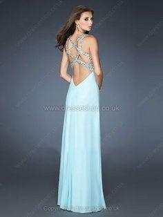 Sheath/Column Straps Chiffon Floor-length Rhinestone Prom Dresses#02014741