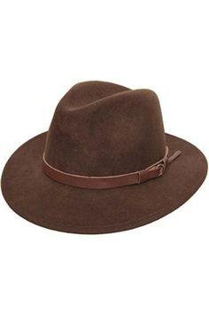 Hombre Sombreros - Sombrero fedora hombre Classique Traveller - talla 59 cm b56cc78f135