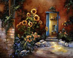 Fine art print, Oil painting print, Flower Painting, Sunflower painting, Flowers, Adobe painting