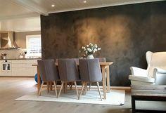 Kalkmaling Living Room Remodel, Sweet Home, Dining Table, Interior, Vestibule, Painting, Furniture, Walls, Tapestry