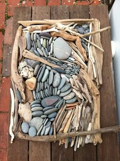 rock, driftwood and an artist's eye - great idea for a garden. #gardening #diy #craft