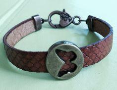 Butterfly Leather Bracelet by joytoyou41 on Etsy, $28.00