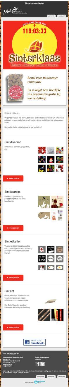 Nu Sinterklaas versieringen met gratis pepernoten Mail Marketing
