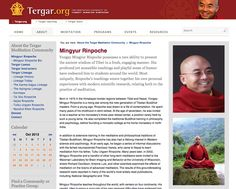 Yongey Mingyur Rinpoche possesses a rare ability to present the ancient wisdom of Tibet in a fresh, engaging manner. tergar.org