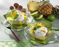 Unser beliebtes Rezept für Kokoscreme mit Litschis und Ananas und mehr als 55.000 weitere kostenlose Rezepte auf LECKER.de.