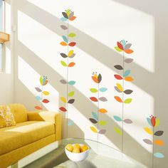 Inspired by a coastal town in the Netherlands, the In Bloemen Wall Decals are a fun, calming addition to any wall space.