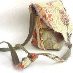 One of a kind Earthy UpCycled Bag Autumn Colors  by itzaChicthing $75