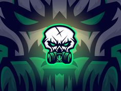 Skull Mask Mascot by Kibrea Graphics Skull Logo, Skull Mask, Great Logos, Animal Logo, Gaming Logo, Youtube Banners, Esports Logo, Youtube Logo, Logo Creation