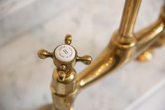 the perfect antique brass tap by deVOL - The deVOL Journal - deVOL Kitchens Brass, Devol Kitchens, Brass Kitchen Faucet, Brass Bathroom, Devol, Kitchen Taps, Brass Tap, Brass Kitchen, Brass Kitchen Hardware