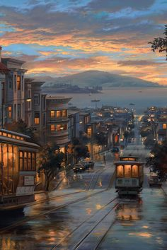 The San Francisco Bay Area is not only about the Golden Gate Bridge. San Francisco has always been considered a great city because it has its own magic from nightlife to cuisine. City Art, Places To Travel, Places To Visit, San Francisco Cable Car, City Aesthetic, Scenery Wallpaper, Hd Wallpaper, Travel Wallpaper, Computer Wallpaper