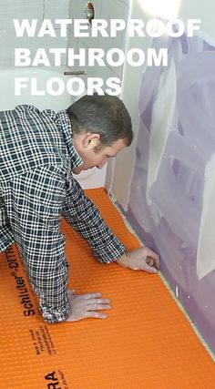 Learn how to waterproof a bathroom floor and prevent mold problems...great tips for anyone tiling a bathroom floor https://www.homerepairtutor.com/schluter-ditra/