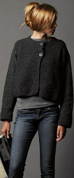 Garter Stitch Jacket