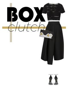 """""""- BOX CLUTCH -"""" by trendsetter-98 ❤ liked on Polyvore featuring TIBI, Edie Parker, Hervé Léger, Wish by Amanda Rose, Yves Saint Laurent, women's clothing, women's fashion, women, female and woman"""