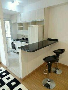 Cozinha americana Diy Kitchen Storage, Kitchen Organization, Small Kitchen Makeovers, Casa Real, My House, Kitchen Design, House Plans, New Homes, Desk