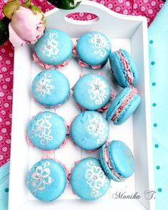 Macaron - Macarons blau-pink Macarons