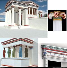 Painted Karyatides - Digital reconstruction by Serieyssol Bruno, Society of Digital Artists