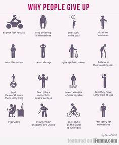 Reasons People Give Up