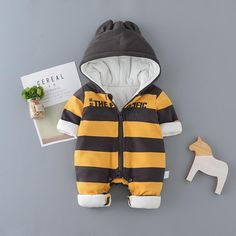 71aa33f7145 Adorable Striped Hooded Baby Romper For Boys – ourlittlerascal