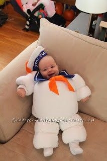 Original Baby Halloween Costume Idea: Stay Puft Marshmallow Baby.. Too cute!!!
