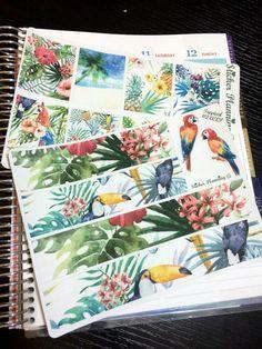 Tropical KIT Planner Stickers for Erin Condren, Happy Planner, Filofax, kikki.K, etc.