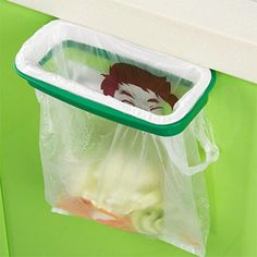 GreenSun(TM) Hook Type Kitchen Cupboard Door Back Style Bracket Trash Garbage Bag Garbage Bag Storage Rack Shelf 80g *** Details can be found by clicking on the image.