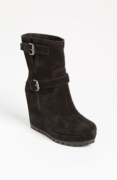 Prada Wedge Boot | Nordstrom...Wedge boots are still in for this fall...Prada's latest...
