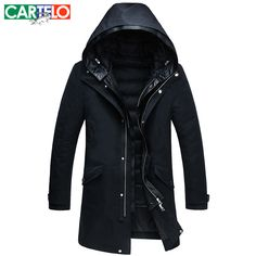 >> Click to Buy << Cartelo/brand 2017 Men's Business Down Jackets Casual Coat Winter Male New Perspective Detachable Liner Jacket Male Thick Coat #Affiliate