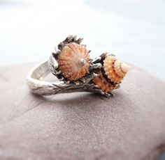 Sea Urchin Collection - The Orange Duo Ring....Etsy....Cindy wants.....