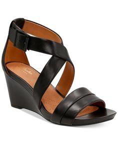 c3bf2995ba8c6a Clarks Artisan Women s Acina Newport Sandals - Sandals - Shoes - Macy s  Black Sandals