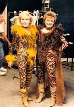 Rose & Blanche... in leopard skin catsuits.  You're welcome!