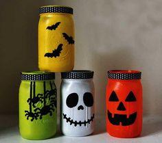 Halloween Mason Jar Lantern Crafts for Kids