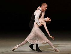 "Svetlana Zakharova and Edvin Revazov in ""Black Pas de Deux"" from John Neumeier's ""Lady of the Camellias"" at the Nijinsky-Gala XLI # Photo: Holger Badekow"