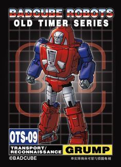 BadCube OTS-09 Grump - Masterpiece-Style Unofficial Gears Artwork Revealed
